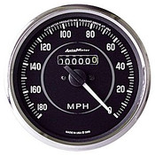 Autometer 427 Series Speedometer, 180 Mph, 4In. Replaces 2721,