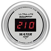 "Autometer Digital Silver, 2-1/16"", Water Temperature 0-300 Degrees"
