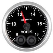 Autometer 2-1/16in, Voltmeter, 8-18V, ELITE