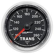 Autometer 2-1/16 In. Trans Temp, 100- 260`F, Fse, Gs