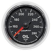 Autometer 2-1/16 In. Oil Temp, 140- 280`F, Fse, Gs