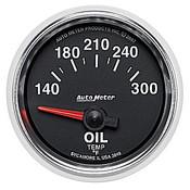 Autometer 2-1/16 In. Oil Temp, 140- 300`F, Sse, Gs