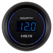 Autometer 2-1/16 In. Voltmeter, 8-18V Digital, Black