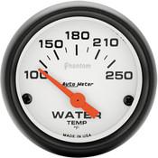 Autometer Phantom Water Temp, 100-250`F Elec, 2In.