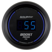 Autometer 2-1/16 In. Boost, 0-60 Psi, Digital Black