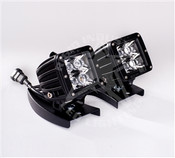 Rigid Lights  Mount for most Atv's - Dually/D2 Pair