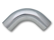 Vibrant 2in O.D. Universal Aluminum Tubing (90 degree bend) - Polished