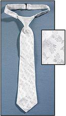 White Brocade Tie