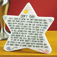 Don't Quit Star Plaque