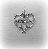 "Heart ""Friends"" Charm"