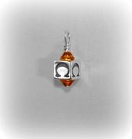 "Block Letter ""W/ Birthstone Drop"" Charm"