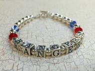Sterling SIlver Texas Rangers Bracelet