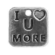 """I Heart U More"" Charm"