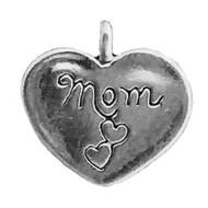 """""""Mom In Heart W/ Butterflies"""" Charm"""