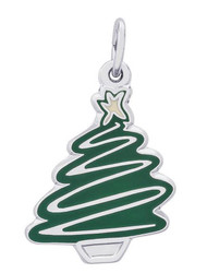 "Green Christmas Tree ""Rembrandt"" Charm"