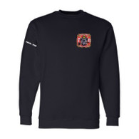 Men's Navy Front - GHFD Bulldog Logo Left Chest