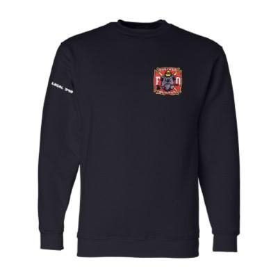Men's Navy Front - GHFD Bulldog Logo Left Chest