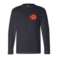 Mens Navy Front - IAFF Logo on Left Chest