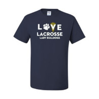 Love Lacrosse Lady Bulldogs - Navy