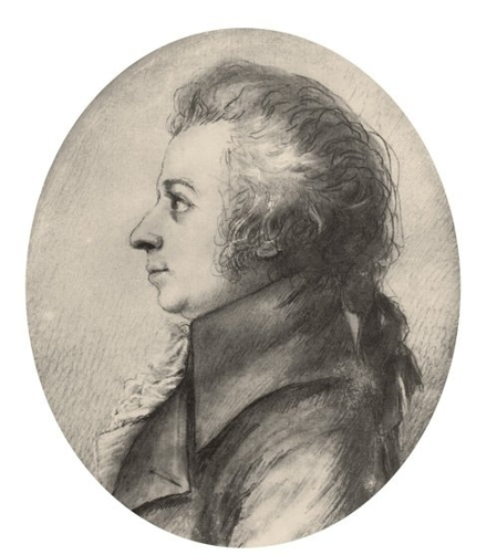 Mozart in 1789, Drawing by Dora Stock, Dresden