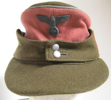 WW2 German SA Group Südmark 'Dienstmütze für Jagereinheiten' Ski-Jaeger M-43 Style Cap. Note the mid to late war style cap eagle which is common on these caps. This style of cap has been seen with Army, Civil and even SS pattern cap eagles.