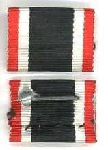 WW2 German 1939 War Service Cross Ribbon Bar, without Swords