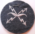 WW2 German Luftwaffe Air-Raid Warning Personnel Sleeve Patch with Tag (921F07327-02)