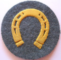 WW2 German Army Farrier NCO Sleeve Patch, Hand Embroidered