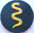 WW2 German Army Veterinary NCO Sleeve Patch, Hand Embroidered