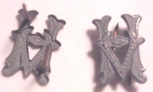 WW2 German Army Wartime Officials 'HV' Shoulder Board Ciphers, gray, Pair
