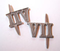WW2 German Army Roman Numeral 'VII' Shoulder Board Ciphers, Steel, 10mm, Pair