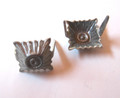 WW2 German Shoulder Board Rank 'Pips', 10mm, steel, Pair