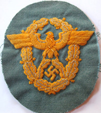 WW2 German Mountain Gendarmerie NCO Hand Embroidered Sleeve Eagle