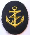 WW2 German Navy Radioman PO Career Sleeve Rating Patch, Blue