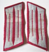 WW2 German Feuerwehr Fire Police Enlisted Mens BeVo Collar Tabs, Pair