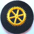 WW2 German Navy Engine Personnel Career Wool Sleeve Insignia