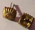 WW2 German Officers Glass Shoulder Board Rank 'Pips', 16mm, Gold, Pair (Detail)
