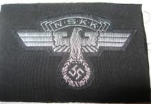 WW2 German NSKK Officers Flat Wire BeVo Cap / Sleeve Eagle, Mint