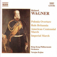 "Richard Wagner: Marches and Overtures. A CD featuring four imposing ""patriotic"" orchestral works by the Master of Bayreuth Richard Wagner (1813-1883)."