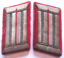 WW2 German Feuerwehr Fire Police Officers Collar Tabs, Delux, Pair