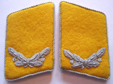 WW2 German Luftwaffe Airfield Fire-Police Officer Collar Tabs, 1944, Pair