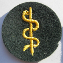 WW2 German Army Medic Sleeve Patch, Machine Embroidered