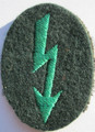 WW2 German Army Gebirgsjäger Radio Telephone Operators Sleeve Patch, Scarce!