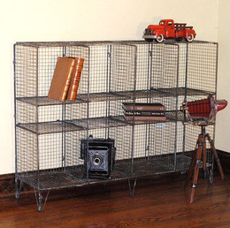 Vintage Metal Wire Bookcase