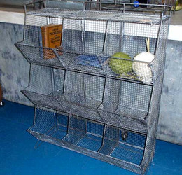 Metal Wire Cubby Shelf