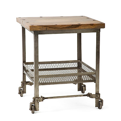 Factory Cart Side Table