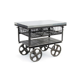 industrial factory metal cart