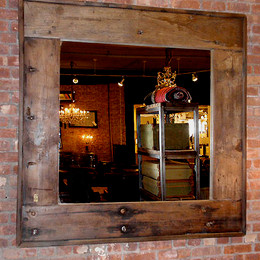 Salvaged Wood Mirror (square)