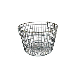 Round Metal Wire Baskets (set of two)