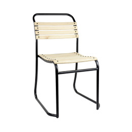 Wood Slat Stacking Chair
